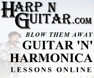 Gitarre und Harfe spielen